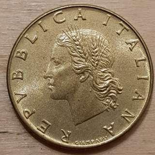 1971 Italy 20 Lira Coin
