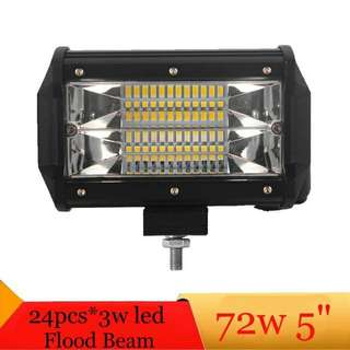 72W Led Work Light SUV Led Driving ATV Motorcycle Fog Lamp