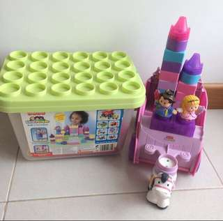 Preloved Fisher Price Little People Princess Palace and Carriage Sets