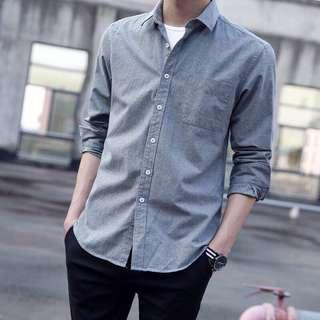 Men's shirt grey