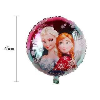 E98 - 2 birthday party foil balloon frozen princess