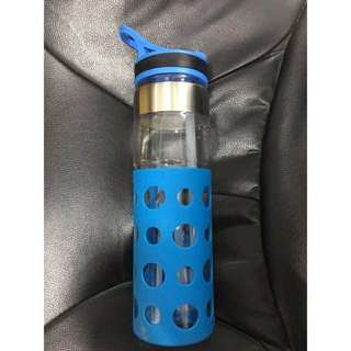 600ml Water bottle tumbler blue