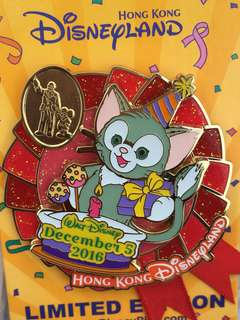 迪士尼生日pin Pin fun day 迪士尼 襟章 徽章 Disney pin Disneyland pin