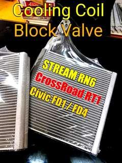 Stream RN6 / CROSSROAD/ CIVIC FD1 FD4 (cooling coil , blk valve , gas , labour)