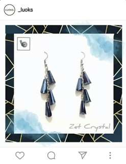 Zet Crystal Earrings