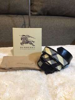 Authentic Burberry Belt with dustbag and Box