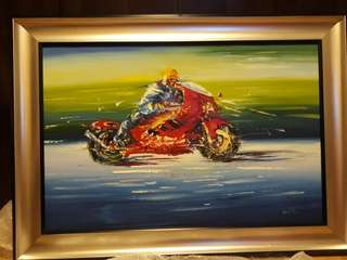 Oil painting (Motorcycle)