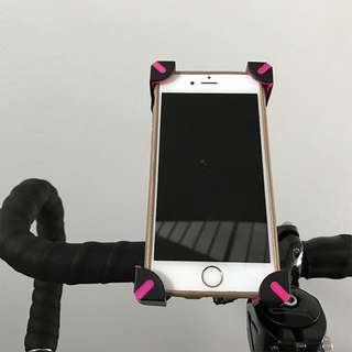 Bicycle Phone Holder - Corner Grip Pink