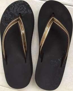 BN Glitter Wedge Sandals - water resistant