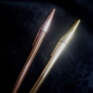 Pulpen, pen, ball point rose gold and gold