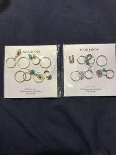 Hair rings from Japan (2packets)