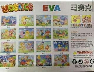 Mosaics Eva sticker warna tempel