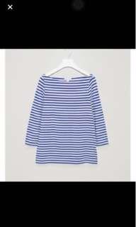 COS stripe top size S