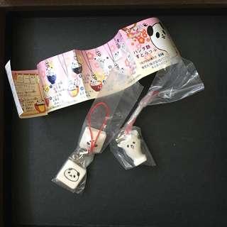 熊貓吊飾扭蛋 2款 不散賣
