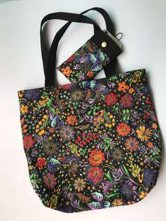 Handmade Tote Bag / phone pouch