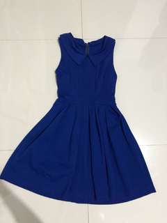 dress flare electric blue