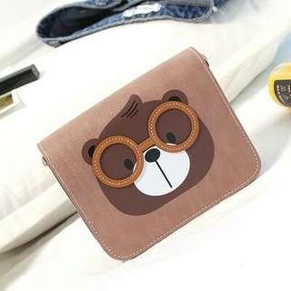 Nerdy Bear Sling Bag
