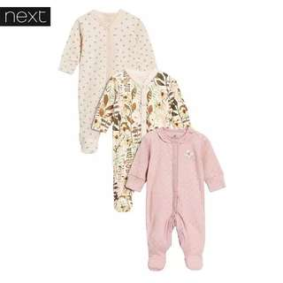 REDUCED‼️NEXT Baby Sleepsuit (3pc)