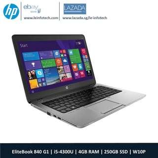HP Elitebook 840 G1 14'' Core i5-4300U@1.9Ghz 4th Gen 4GB RAM 240GB SSD Win 10 Pro Warranty Wifi Bluetooth One Month Warranty