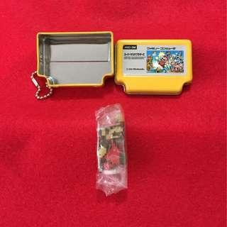 Nintendo 扭蛋 Famican 黃色罐及馬里奧公仔