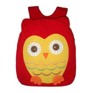 Hootie Owl Back Pack 100% Cotton Canvas Material Favourite Color Red