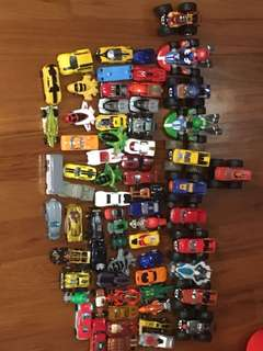 Toy cars + case
