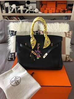Authentic Hermès Birkin 35 Clemence GHW
