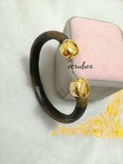 New Arrival Leather Bracelet, Stainless Gold Plated