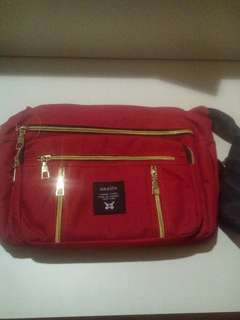 Red anello sling bag