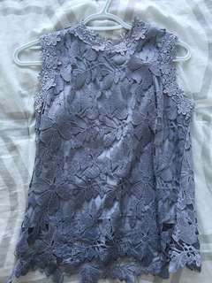 Floral lace tank top - NY boutique