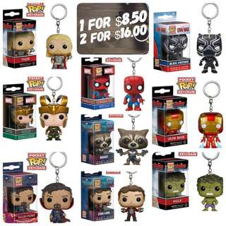 POCKET POP! KEYCHAIN BY FUNKO ( MARVEL / DC / HARRY POTTER / GAME OF THRONES / RICK & MORTY )