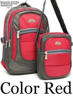 SAMSONITE 2IN1 4Compartments With Laptop Case Inside SIZE : BackPack : 16 inch SlingBag : 8 inch  Price : 750