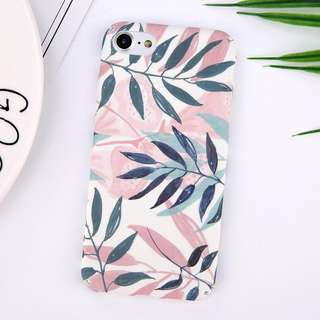 #13C Leaf Green Pink Hard Phone Case PO Cover Hard