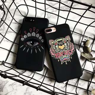 INSTOCK Kenzo Tiger Eyes IPhone X BN Soft Phone Cover