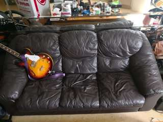 Free Leather Sofa & Love Seat