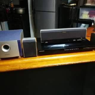 Samsung Bluray Player/Home theater Reciever with Speakers