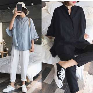 (XL~5XL) 2018 Women's Battail Shirt Top Long Shirt