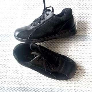Smalltime leather&velvet shoes