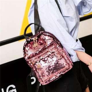 ✨CHIC✨ Annika Velvet Glitter Panel Backpack Bag