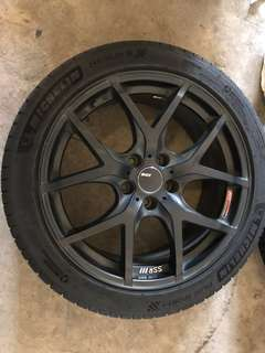ORIGINAL SSR GTV03 RIMS W/MICHELIN PS4 TYRES