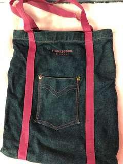 🚚 牛仔手提/側背提袋/購物袋