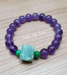 Amethyst bracelet with Korean jade Bracelet