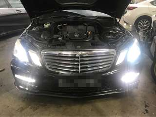 Hid conversion for Mercedes e class without Hid system