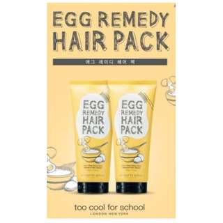 Too Cool for School Egg Remedy Hair Pack (200g)
