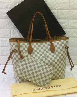 LV Neverfull MM Azur