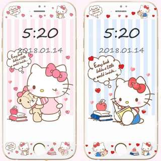 Hello Kitty v5- tempered glass screen protector for iphone