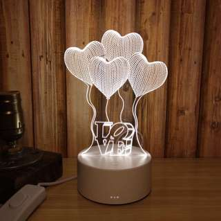 New Stocks❗️BRAND NEW with the base & switch. 3D Creative night light. Dual colour light (white & yellow). Create a romantic & cosy ambience right now 😁 selling @ $25. Great as gift 🎁 or for your own use. 7 designs (refer to photos)