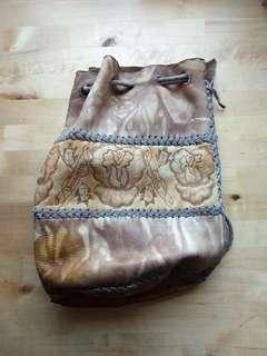 Cuban Reak Leather Satchel