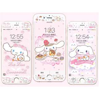 Cinnamoroll v4 - tempered glass screen protector for iphone