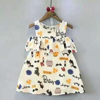 💥全新💥特價250💥韓版夏季可愛兒童塗鴉連身裙 尺寸♡100♡110♡120♡130♡140